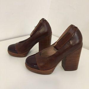 Jeffrey Campbell Wood Chunky heels Vintage